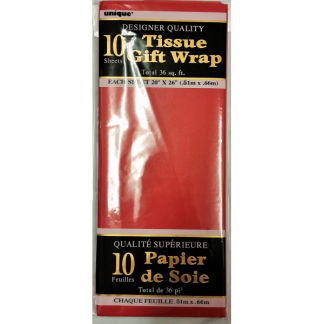 Red Tissue Paper (10 Sheets)