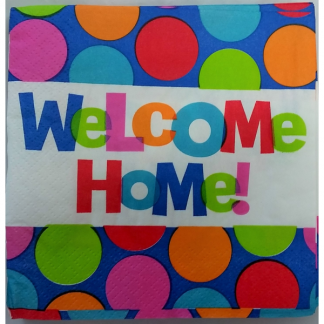 Welcome Home Beverage Napkins (16)