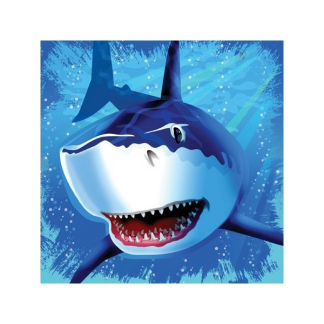 Shark Splash Luncheon Napkins (16)