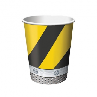 Construction Birthday Zone Cups (8)