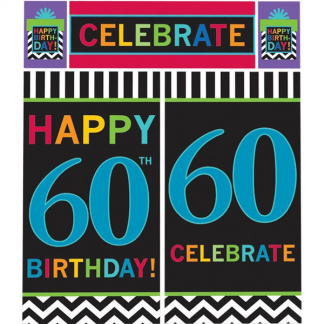 60th Birthday Wall Decorating Kit