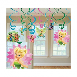 Tinkerbell Swirl Hanging Decorations (12)