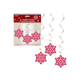 Sparkle Tree Snowflake Hanging Decorations (3)
