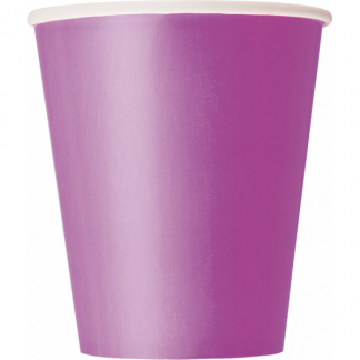 Pretty Purple Paper Cups (8)
