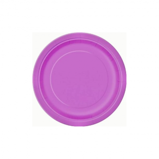 Pretty Purple Paper Plates 9in (8)