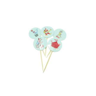 Little Circus Cupcake Toppers (24)