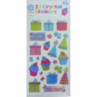 Birthday Crystal Stickers