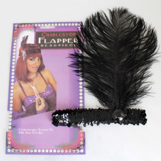 Black Charleston Flapper Headpiece