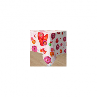 Hearts in Bloom Tablecover - valentine's day written in pink