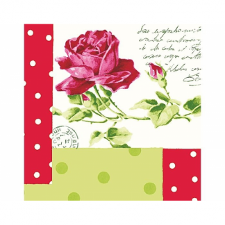 Letters and Rose Beverage Napkins (20)