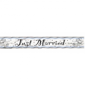 Just Married Bells Banner