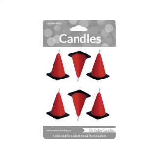 Road Cone Candles (6)