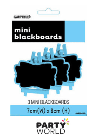 powder blue mini blackboards