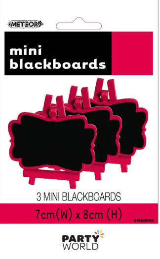 red blackboards