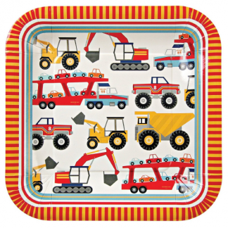Meri Meri 'Big Rig' Large Square Plates (12)