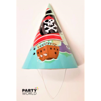 Pirate Ship & Shark Cone Party Hat (6)