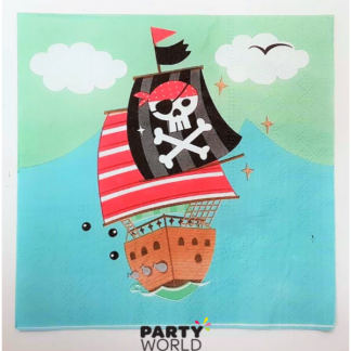 Pirate Ship & Shark Luncheon Napkins (20)