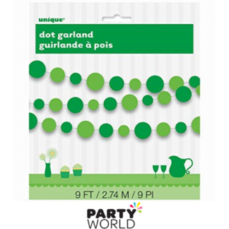 Green Card Dot Garland
