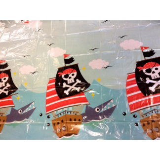 Pirate Ship & Shark Tablecover