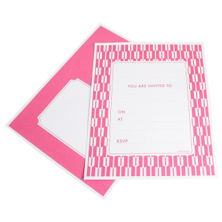 Habitat Cerise Embossed Invitations (25)