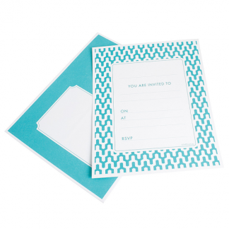 Habitat Teal Embossed Invitations (25)