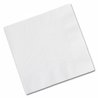 Bright White Luncheon Napkins (20)