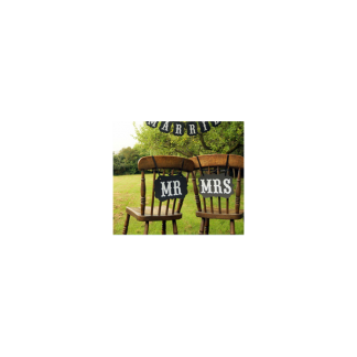 MR & MRS Photo Both Signs / Chair Signs - seconds
