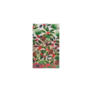 Festive Holly Plastic Tablecover