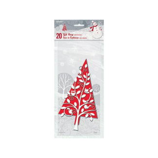 Frosted Holiday Cello Bags (20)