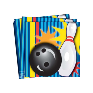 Ten Pin Bowling 'Strike' Beverage Napkins (16)