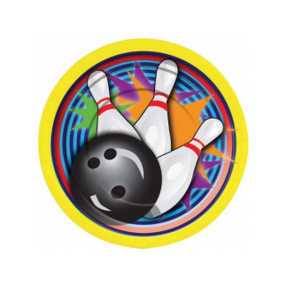 Ten Pin Bowling 'Strike' Side Plates (8)