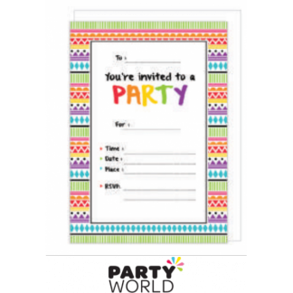 Mexican Party Invitations with Envelopes (16)