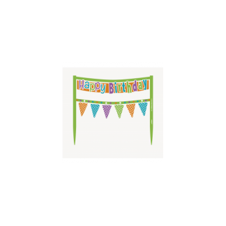 Happy Birthday Cake Banner - Dots