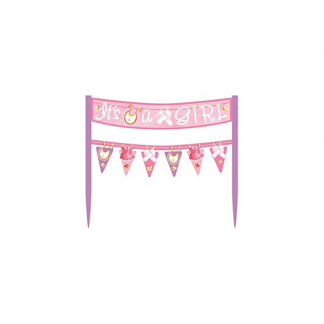 Its a Girl Cake Banner
