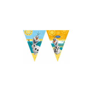 Olaf Frozen Party Flag Banner