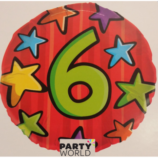 "6th Birthday 18"" Foil Balloon"