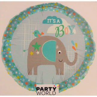 "'It's a Boy' Elephant 18"" Foil Balloon"