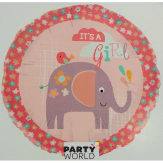 "'It's a Girl' Elephant 18"" Foil Balloon"