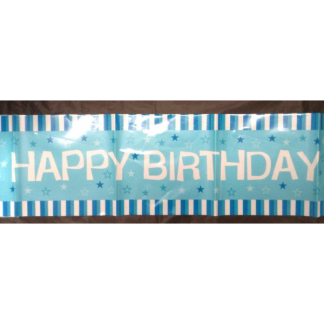 Happy Birthday Banner in Blue