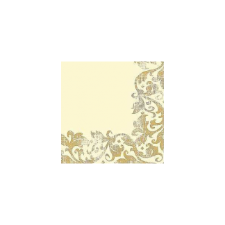 Champagne Colour Dinner Napkins (12) distressed antique gold pattern