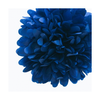 12in Puff Ball - Dark Blue