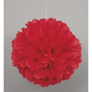 12in Puff Ball - Red