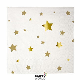 Meri Meri Gold Star Beverage Napkins (16)