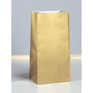 Gold Paper Party Bags (10)