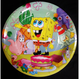 SpongeBob Square Pants Side Plates - 7inch