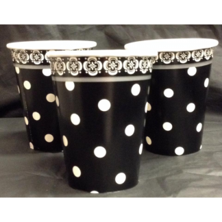 Fancy Polka Dot Paper Cups (8)
