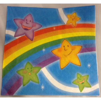 Rainbow and Stars Luncheon Napkins (20)