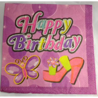 Girls Happy Birthday Luncheon Napkins (20)