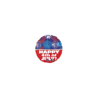 Happy 4th July Foil Balloon