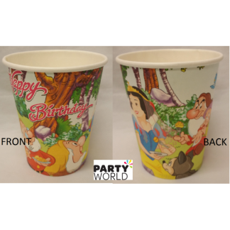 Snow White Paper Cups (8)